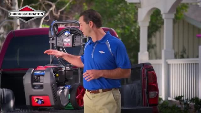 Power washing is made even easier with POWERflow+ Technology by Briggs & Stratton. This pressure washer allows you to do deep cleaning, remove mold and mildew and reach second stories.
