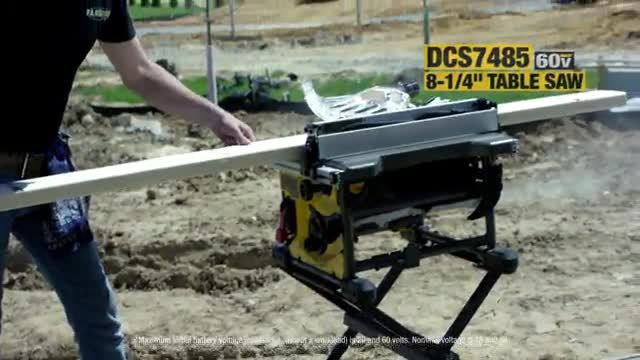 """The first 8-1/4"""" blade cordless table saw by DEWALT®"""