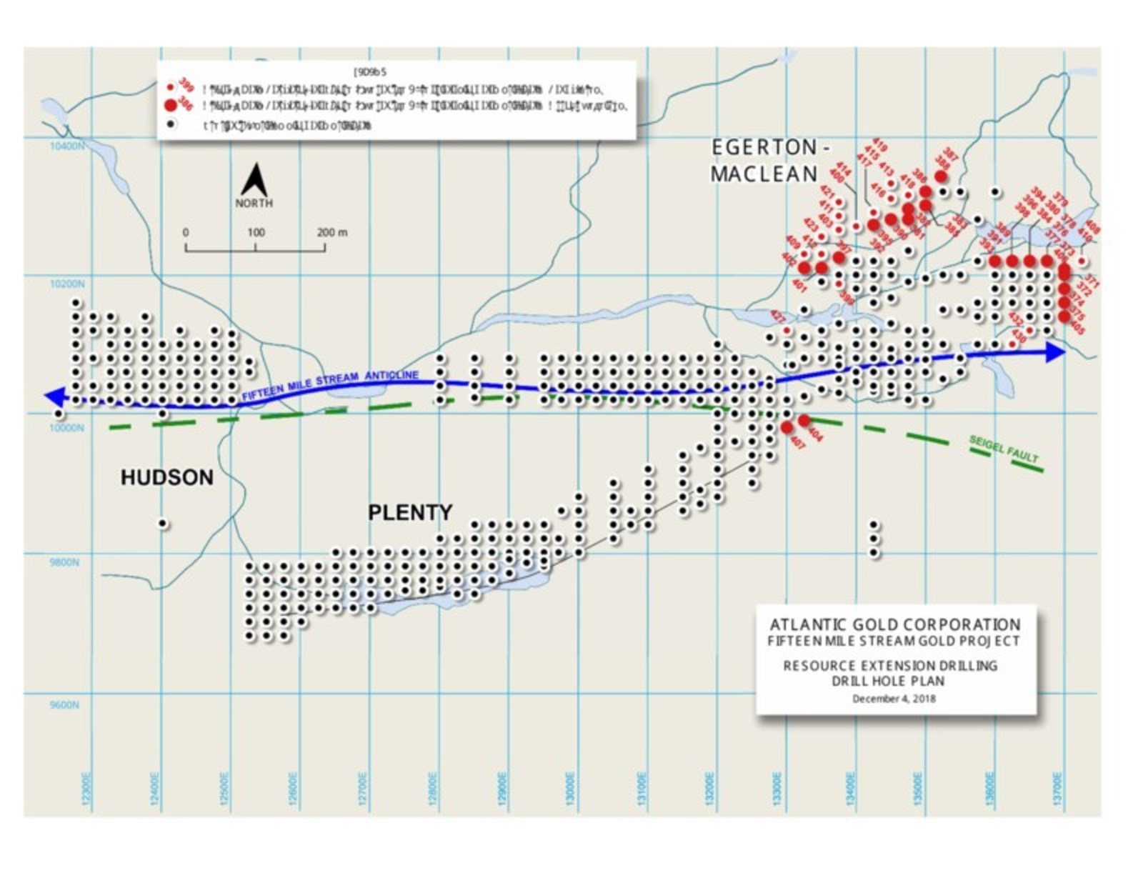 Fifteen Mile Stream Drill Plan Map and Sections