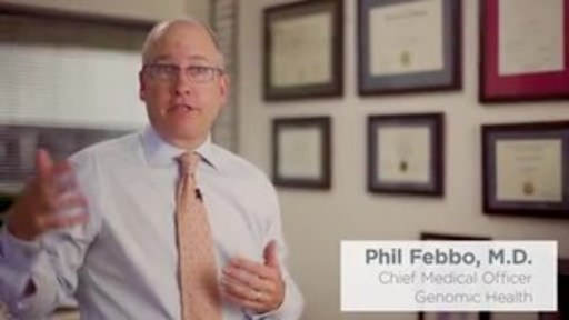 Dr. Phil Febbo, chief medical officer of Genomic Health, discusses a new test to guide treatment in metastatic prostate cancer