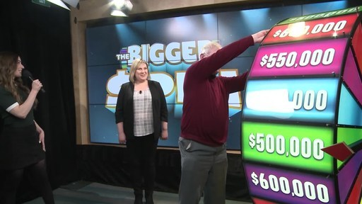 Video: Clarence MacKenzie of Cambridge spins THE BIGGER SPIN Wheel at the OLG Prize Centre in Toronto. MacKenzie won a top prize with OLG's new INSTANT game – THE BIGGER SPIN.