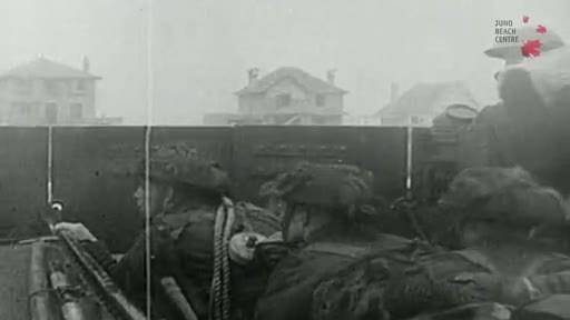 Only known video of Canadian soldiers approaching Juno Beach by landing craft on D-Day (4:00)