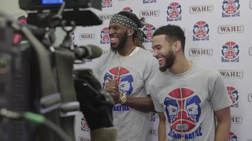 Watch the players get trimmed down for charity.