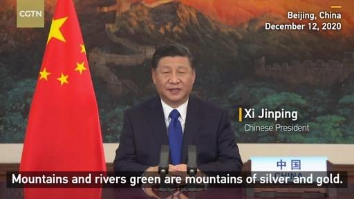 中国国际电视台记者:世界各国领导人齐聚一堂,中国承诺采取新措施应对气候变化