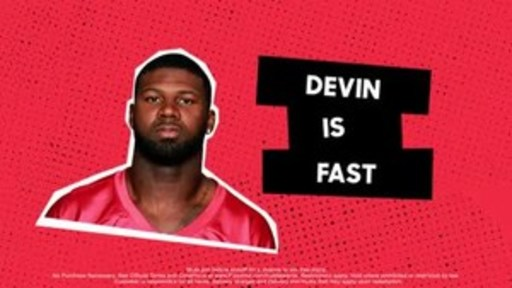 "Pizza Hut teams up with record-setting return specialist Devin Hester to offer America a chance to score free pizza faster during the Big Game. All fans who join the Hut Rewards loyalty program before kickoff on Feb. 4 will receive a free medium two-topping pizza, if Hester's record for ""fastest touchdown in the history of The Big Game"" is broken. Hester set the record at 14 seconds in 2007."