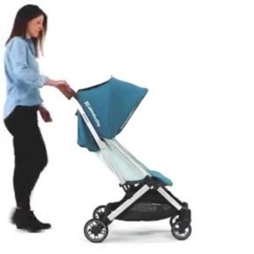 The UPPAbaby MINU's one-handed compact fold makes it simple to take on the go.