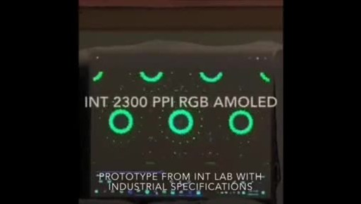 """The world's first 0.7"""" 2,300 PPI real RGB side by side AMOLED video mode display."""