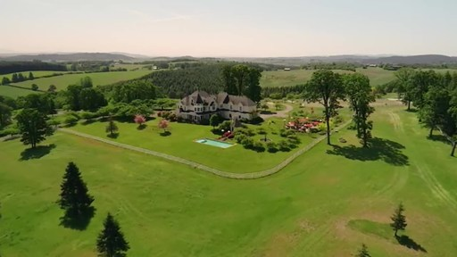 "Located outside Portland in Oregon's Willamette Valley wine country, this 180-acre estate will be sold at luxury auction® on October 24, 2020. Platinum Luxury Auctions is managing the sale with listing brokerage Cascade Sotheby's International Realty. The property has recently been listed for $3.9 million, but will be sold at auction to the highest bidder without reserve. The property includes unique, fun features like a stone wine ""grotto,"" large outdoor dining and entertaining area with custom"