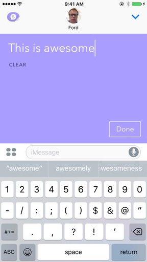 ScribbleChat inside iMessage