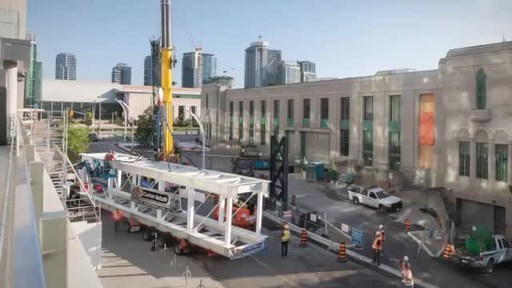 展览场所打开新的天空桥