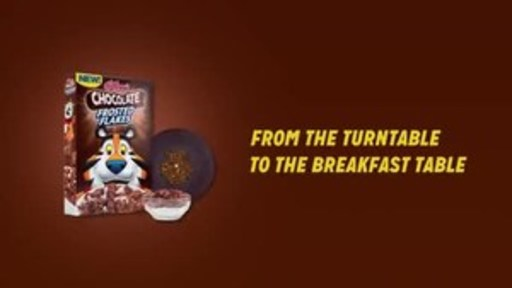 """Chocolate lovers will be singing a new tune when Kellogg's® Chocolate Frosted Flakes™ hits bowls and playlists today with the first record to ever be made out of actual cereal – so that when you are done listening to new release """"Hello"""" from Simon Cowell-backed boy band PRETTYMUCH, you can enjoy the sweet taste of Chocolate Frosted Flakes™"""