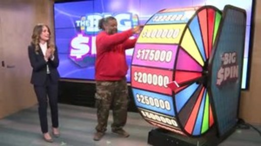 Video: Damitra (Chubbs) Maharaj of Brampton spins THE BIG SPIN Wheel at the OLG Prize Centre in Toronto. Maharaj was the second person to win a top prize with OLG's new INSTANT game – THE BIG SPIN.