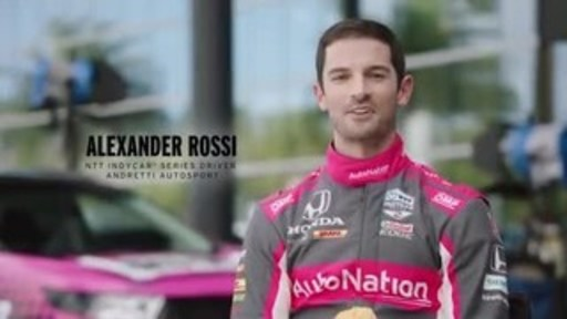 2016 Indianapolis 500 Champion, Alexander Rossi, joins AutoNation's DRV PNK initiative as an ambassador.
