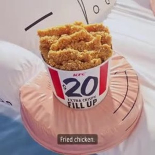 In the likeness of Colonel Sanders and in the shape of a ridable raft, the KFC Colonel floatie features special holders for a bucket of Kentucky Fried Chicken(r) and your favorite beverage.