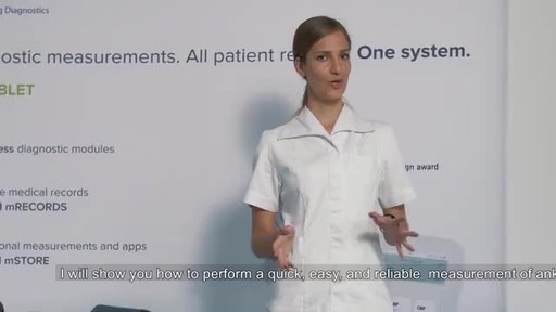 Demonstration of Ankle-Brachial Index measurement with MESI mTABLET ABI