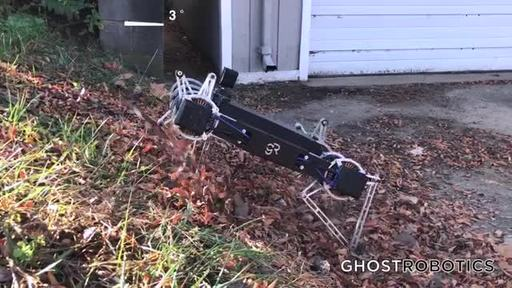 Ghost Minitaur(TM) Highly Agile Direct-Drive Quadruped Demonstrates Why Legged Robots are Far Superior to Wheels and Tracks When Venturing Outdoors.