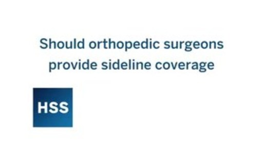 Why Orthopedic Surgeons Should Stay On Nfl Sidelines A