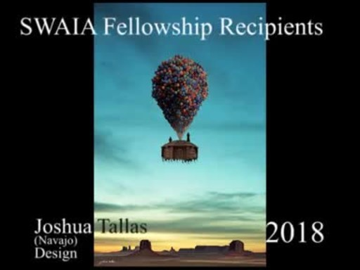 2018 SWAIA / Santa Fe Indian Market Fellowship Recipients: Joshua Tallas (Navajo), Design Fellow; Lisa LeFlore (Chiricahua-Fort Sill Apache), Discovery Fellow; Alex Lewis (Cheyenne River Sioux Tribe), Discovery Fellow; Raven Naranjo (San Ildefonso Pueblo/Navajo), Youth Fellow; Niska Kempenich (Turtle Mountain Band of Chippewa), Youth Fellow; Georgeanne Growingthunder (Nakoda, Dakota, Kiowa, Seminole), Youth Fellow