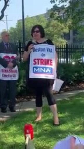 Strike Underway for Boston VNA Healthcare Professionals...