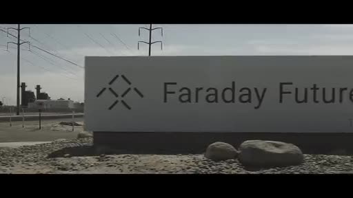 Video showing arrival on Hanford factory floor of first Hanford-built FF 91 ultra-luxury intelligent EV and celebration.