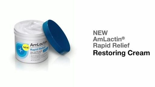 Sandoz Inc. Launches AmLactin? new Rapid Relief Restoring Cream with 15% lactic acid