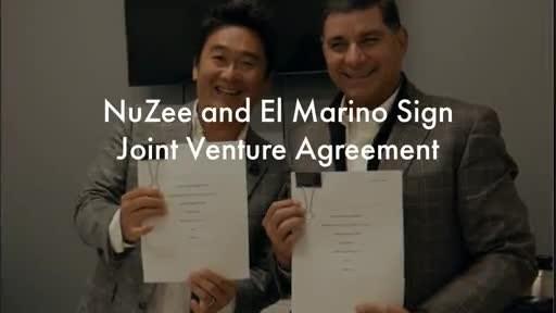 NuZee CEO, Masa Higashida and El Marino Director General, Arturo Lizarraga Mercado, sign Joint Venture Agreement.