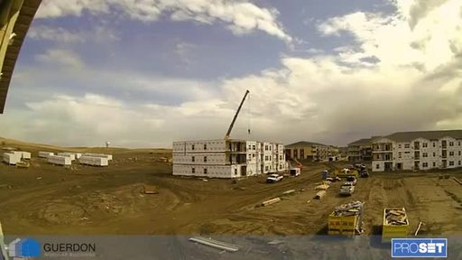 Time lapse video of modular construction process for the Courtyard Pullman in Washington