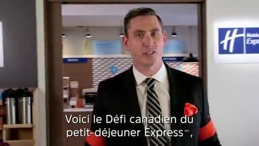 Vidéo: Les légendes du hockey Doug Gilmour et Guy Carbonneau s'affrontent dans le cadre du Défi canadien du petit-déjeuner Express de Holiday Inn Express, animé par Mike Johnson.