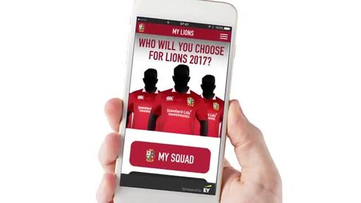 EY is taking rugby fan engagement to the next level with an exclusive app developed to give them an enhanced interactive digital experience during the upcoming British & Irish Lions Tour of New Zealand in June.