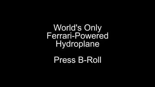 Footage of the world's only Ferrari-powered hydroplane.