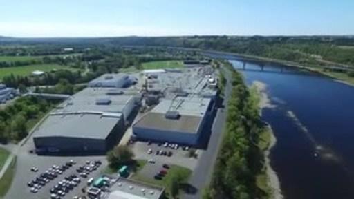 La principale usine de transformation de pommes de terre de McCain à Florenceville-Bristol, au Nouveau-Brunswick.