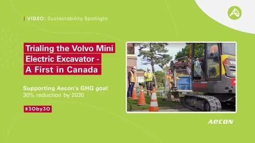 Aecon试点沃尔沃电动挖掘机,支持温室气体减排目标