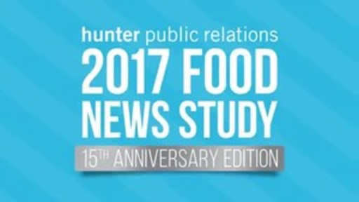 Hunter Public Relations Food News Study reveals the top five most recalled news stories of the past 12 months.