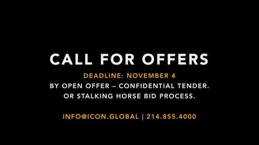 Wallrath's Champion Ranch to Sell Under Call for Offers by Open Bid, Confidential Tender or Stalking Horse Bid Process - $1 Million Breakup Fee Possible