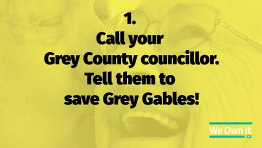Ad featuring Grey County residents urging their councillors not to privatize long-term care
