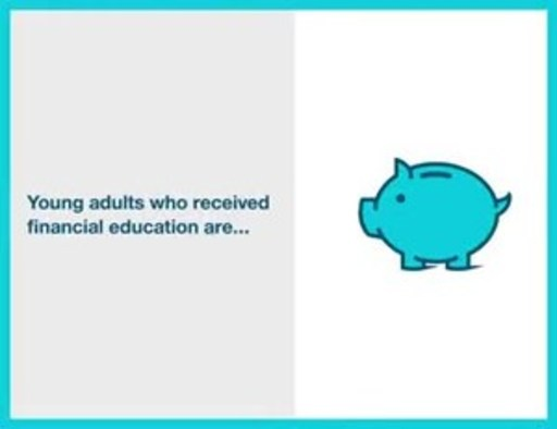 Young adults who received financial education are...