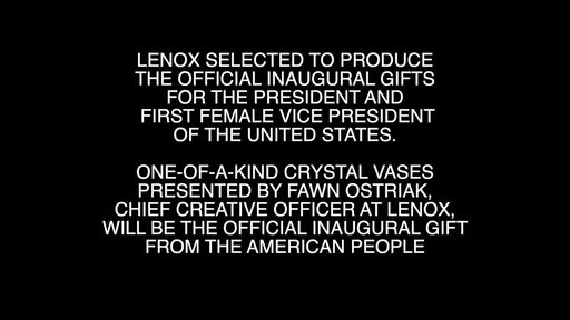 Lenox Selected to Produce the Official Inaugural Gifts For the President and First Female Vice President of the United States on Inauguration Day