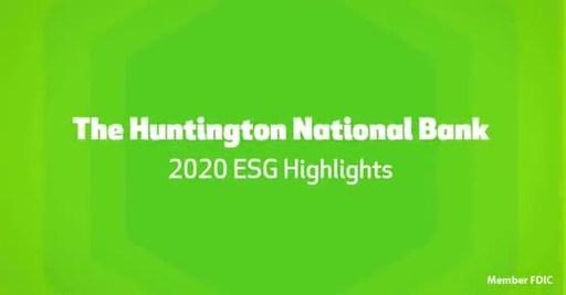 Huntington's 2020 ESG Highlights