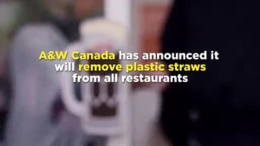 Video: A&W Canada first restaurant chain in North America to eliminate plastic straws
