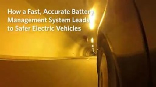 Fast, accurate battery management system for safer EVs using the MAX17843 by Maxim Integrated