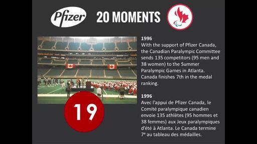 20 ans, 20 moments – une fière partenariat. Merci de faire partie d'Équipe Canada.