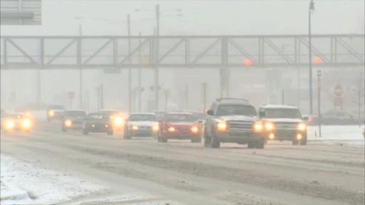 Broll: Winter Driving