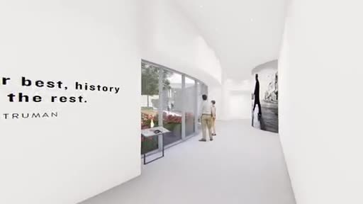 This fly-through video shows the planned Legacy Gallery and entrance of the Harry S. Truman Library and Museum in Independence, Mo. The Truman Library has launched a $25 million renovation to be completed in late summer or early fall of 2020, honoring the 75th anniversary of the Truman Presidency. The museum exhibits are being designed by Gallagher & Associates whose credits include the National World War II Museum in New Orleans. www.trumanlibrary.org
