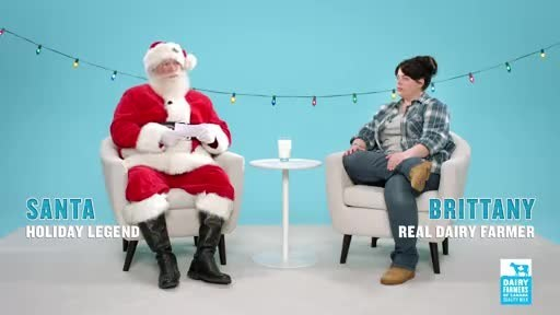 Memorable new campaign connects milk, real millennial dairy farmers and a fun-loving Santa