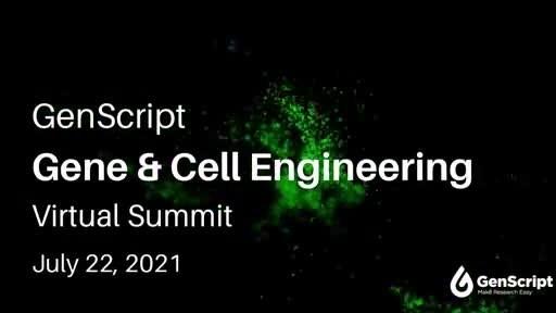 GenScript to Host Gene & Cell Engineering Virtual Summit...