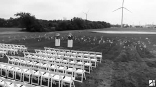 Touching wedding recap from the North Findlay Wind Campus of One Energy LLC in Findlay, OH