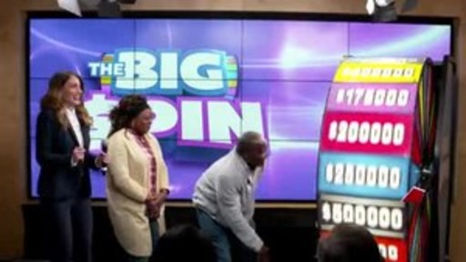 Video: Joseph Buwah of Mississauga spins THE BIG SPIN Wheel at the OLG Prize Centre in Toronto. Buwah was the third person to win a top prize with OLG's new INSTANT game – THE BIG SPIN.