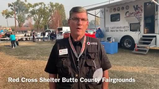 Fast-moving wildfires are consuming thousands of acres in California, forcing tens of thousands of people from their homes. The American Red Cross is there, providing shelter and emotional support for the evacuees.