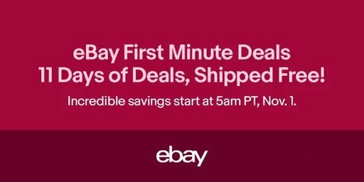 eBay Helps You 'Sleigh' Holiday Shopping Early with First Minute Deals