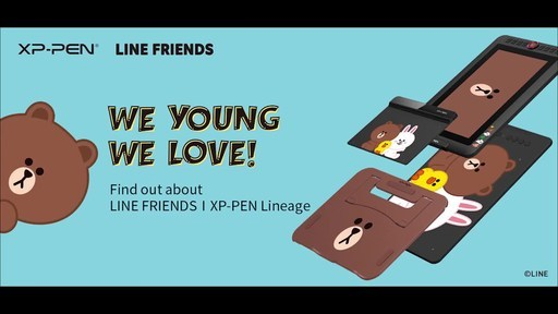 XP-PEN Partners with LINE FRIENDS to Present the Most Cheerful Pen Tablet